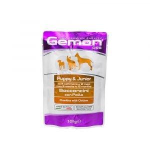 Gemon Chunks With Chicken – Puppy & Junior Dog Food
