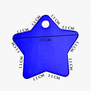 Pet Engraved Name-Tags-Star Shape