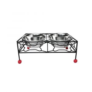 Wrought Iron Bowl Stand-Rustic