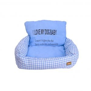 All4pets Chair Style Foam Filled Orthopedic Dog Sofa Bed In Blue Colour