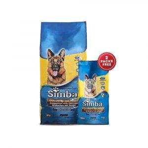 Dog Food Combo offer SIMBA CHICKEN DOG FOOD 20kg + Free SIMBA CHICKEN DOG FOOD 800gms