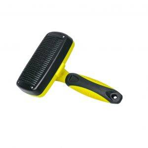 Self Cleaning Slicker Brush with Push Button