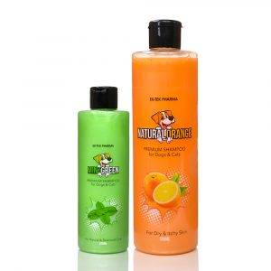 Dogs & Cats Fruit Shampoo Combo | Orange | Mint Green - All4pets